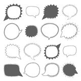 Speech bubbles collection. Blank empty vector speech bubbles isolated on white background Stock Photos