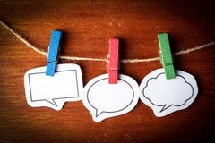 Speech bubbles. Collection of blank speech bubbles for your edit Stock Photos