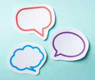Speech bubbles. Collection of blank speech bubbles for your edit Stock Photo