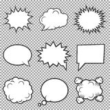 Speech bubbles collection stock illustration