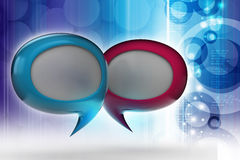Speech bubbles. In color background Vector Illustration