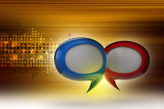 Speech bubbles. In color background Royalty Free Stock Photo