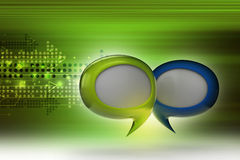 Speech bubbles. In color background Stock Images