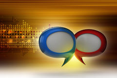 Speech bubbles. In color background Royalty Free Stock Photos