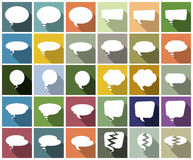 Speech Bubbles On Colorful Background Stock Photo