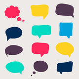 Speech bubbles. Colorful questions speech bubbles. Eps 10 vector file stock illustration