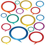 Speech Bubbles. Royalty Free Stock Photo