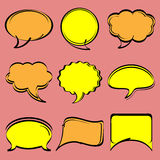 Speech bubbles in comic style Stock Image