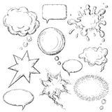 Speech bubbles. Comic speech and think bubbles collection Stock Images