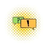 Speech bubbles comics icon Stock Photos