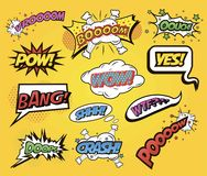 Speech bubbles Comics speech and exclamations