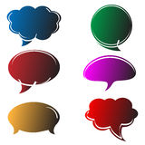 Speech bubbles in comics style Royalty Free Stock Photography