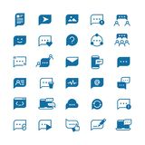 Speech bubbles, communication chat, talk bubble and thinking balloon vector icons isolated. Communication speech bubble, speak message cloud illustration Stock Photography