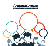 Speech bubbles communication Stock Photo