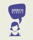 Speech bubbles communication. Design,  illustration eps10 graphic Stock Images