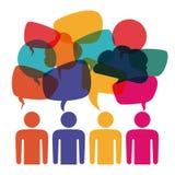Speech bubbles communication. Design,  illustration eps10 graphic Stock Photo