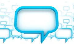 Speech Bubbles Concept. 3D Abstract Illustration. Speaking - Chat Bubbles stock illustration