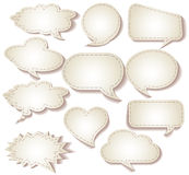 Speech bubbles cut from paper Stock Images