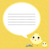 Speech bubbles so cute Royalty Free Stock Photography