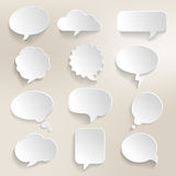 Speech Bubbles 3D. Collection of speech bubbles with a 3D effect Royalty Free Stock Photography