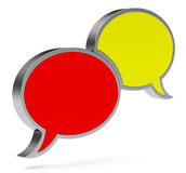The speech bubbles Stock Images