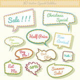 Speech bubbles 3d with sale text. Vector illustration in .CS and .EPS10. May contain transparency vector illustration