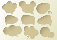 Speech Bubbles Deep hole sets Royalty Free Stock Image