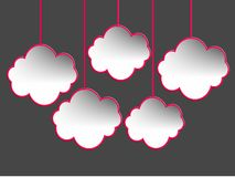 Speech bubbles design, cloud shape Royalty Free Stock Photo