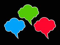 Speech bubbles design, cloud shape Royalty Free Stock Photos