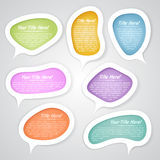 Speech bubbles design elements Royalty Free Stock Image