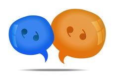 Speech bubbles. Discussion - speech bubbles. Cloud talk Royalty Free Stock Image