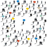 Speech Bubbles Diverse Diversity Ethnic Crowd Business Concept Royalty Free Stock Photos