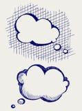 Speech bubbles. Doodle style Stock Image