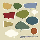 Speech Bubbles. EPS10 retro style Royalty Free Stock Image