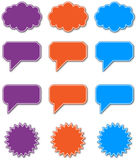 Speech Bubbles in eps10 Royalty Free Stock Image