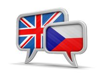 Speech bubbles with flags Stock Photography