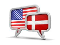 Speech bubbles with flags Stock Photo
