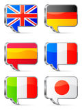 Speech bubbles flags. Royalty Free Stock Photography