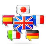Speech bubbles flags. Royalty Free Stock Images
