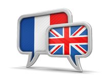 Speech bubbles with flags Stock Image
