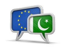 Speech bubbles with flags Royalty Free Stock Photo
