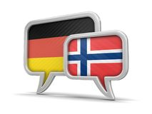 Speech bubbles with flags Stock Photos