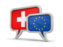 Speech bubbles with flags Royalty Free Stock Image