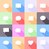 Speech bubbles flat icons Royalty Free Stock Image