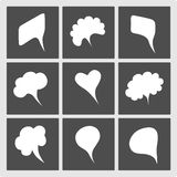 Speech bubbles flat icons Royalty Free Stock Photo