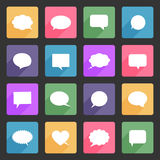 Speech bubbles flat icons set Royalty Free Stock Photos