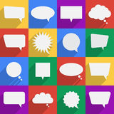 Speech bubbles flat icons set. Vector illustration Stock Photo