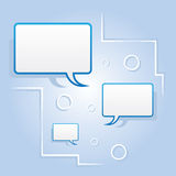 Speech Bubbles Floating Royalty Free Stock Photography