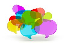 Speech bubbles from glass Royalty Free Stock Photo
