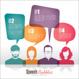 Speech bubbles. Group of people with speech bubbles royalty free illustration